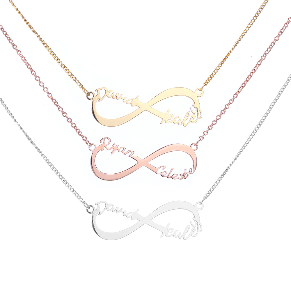 d52ea1a943e6 Infinity Two Name Necklace.  250.00. Compare at  570.00. Metal Material. 14K  SOLID GOLD ...