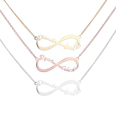 Infinity Two Name Necklace