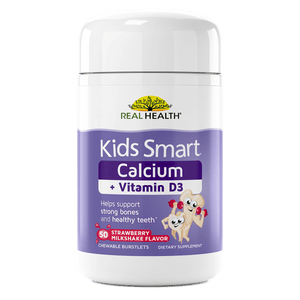 Kids Smart Calcium & Vitamin D3 Chewable Burstlets – 50ct front of bottle