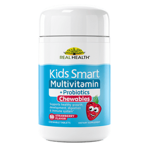 Kids Smart Multivitamin & Probiotics Chewable Tablets – 50ct front of bottle