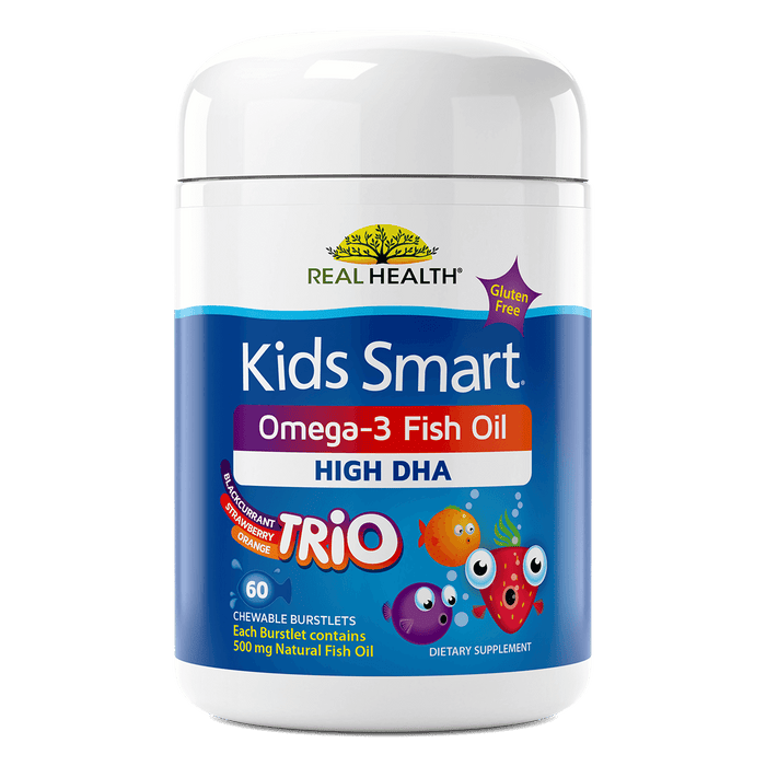 Kids Smart Trios High DHA Omega-3 Fish Oil Chewable Burstlets – 60ct