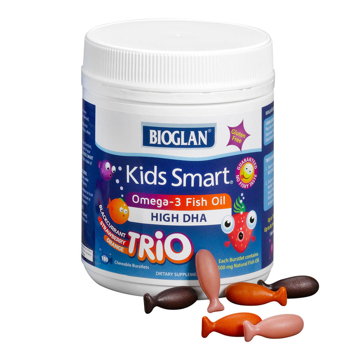 Kids Smart Trios Hi DHA Omega-3 Fish Oil – 180ct