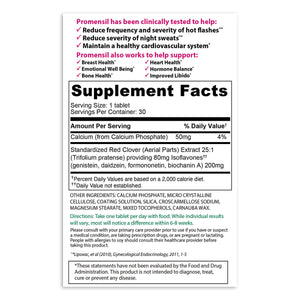 Promensil Menopause Support Tablets - 30ct Supplement Facts