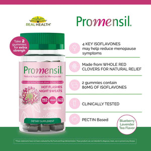Promensil Menopause Support Gummies – 45ct infographic