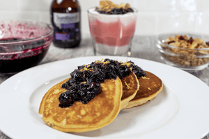 Black Elderberry Syrup and Blueberry Compote