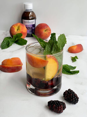 Peach and Elderberry Mocktail