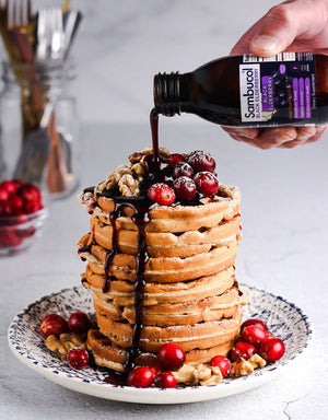 Sambucol Cranberry and Walnut Waffles