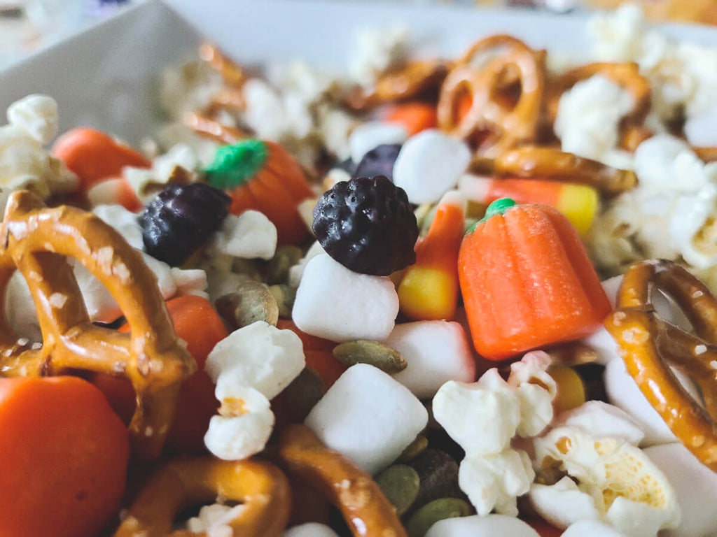 Fall-inspired Snack Mix with Elderberry Gummies