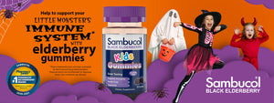 Sambucol Black Elderberry Halloween spooky monster banner