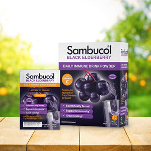 Sambucol Black Elderberry Daily Immune Drink Powder - 10 Count Lifestyle Image 3