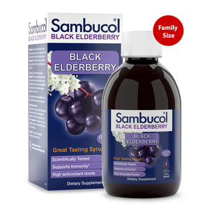 Sambucol Black Elderberry Large Original Syrup - 7.8 Ounces Bottle and Carton