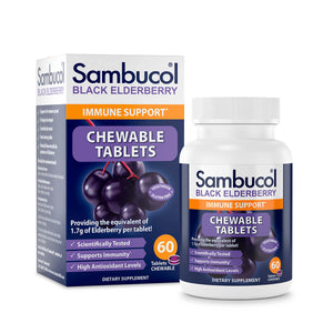 Sambucol Black Elderberry Chewable Tablets - 60 Count Front