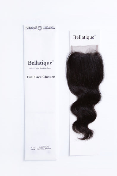 BELLATIQUE UNPROCESSED BRAZILIAN VIRGIN REMY HUMAN HAIR [CLOSURE]