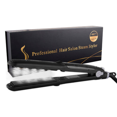 Professional Steam Ceramic Flat Iron with Argan Oil Infused