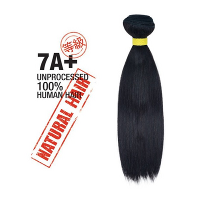 7A+ 100% Unprocessed Natural Human Hair [Straight]