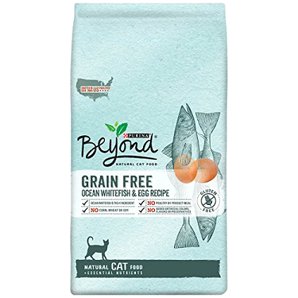 Purina's Beyond Natural Grain Free Ocean Whitefish and Egg dry cat food