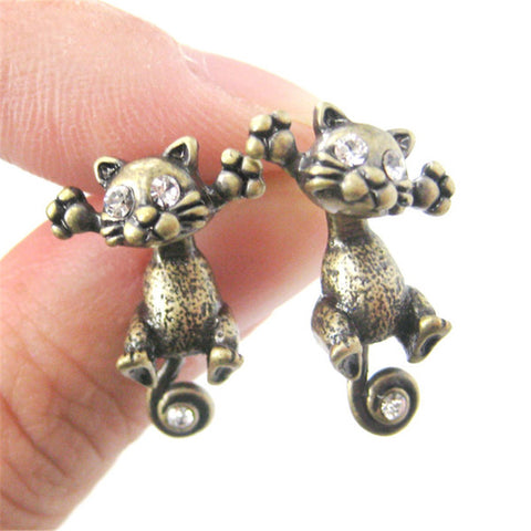 Kittenup Hot Classic Antique Cat Earrings - VIP Top Cats