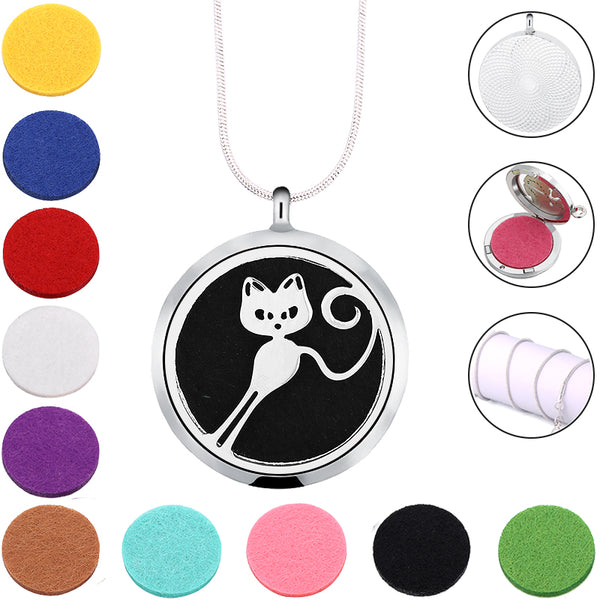 Cat Essential Oil Necklace Pendant - VIP Top Cats