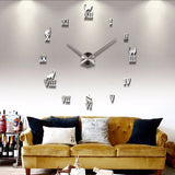 2018 Modern Design Large Decorative DYI Cat Wall Clock / Living Room 3D Wall Stickers - VIP Top Cats