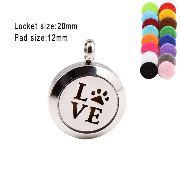 Love Cat Dog Paw Screw 316L Stainless Steel Aromatherapy Pendants 20mm Essential Oil  Diffuser Locket Pendant Necklace - VIP Top Cats