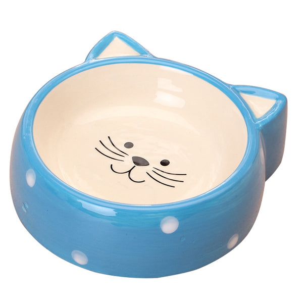 Pet Cartoon Cat Shape Ceramic Feeding Bowl - VIP Top Cats