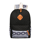 Backpack Set Canvas Printing Backpack Women Cute Lightweight Book bag for Teenage Girls - VIP Top Cats