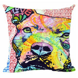 Decorative Pit Bull Abstract Art Pillow Case - VIP Top Cats