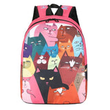 Casual Women Cat Patterns Canvas Printing Backpacks for Teenage Girls - VIP Top Cats