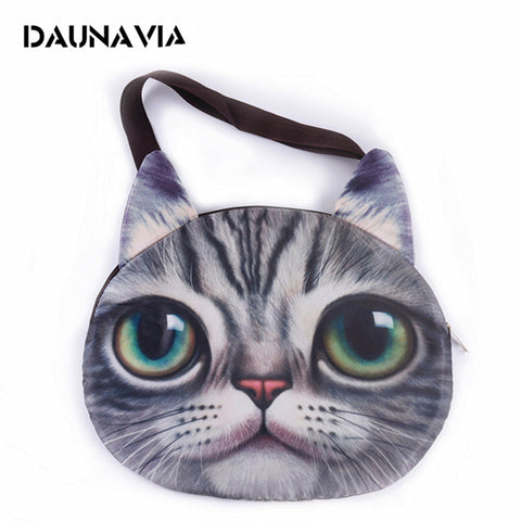 Cute 3D cat face female handbag Messenger bag - VIP Top Cats