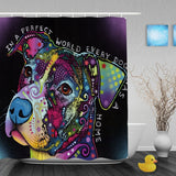 Pit Bull Abstract Art Shower Curtains - VIP Top Cats