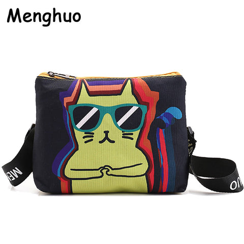 New Cute Dog Cat Printed Canvas Crossbody Shoulder Bags - VIP Top Cats