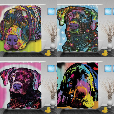 Labrador Abstract Art Shower Curtains - VIP Top Cats