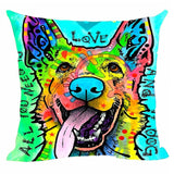German Shepherd Abstract Art Throw Pillow Case Covers - VIP Top Cats