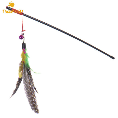 Multi Color Feathered Wand Cat Teaser Stick - VIP Top Cats