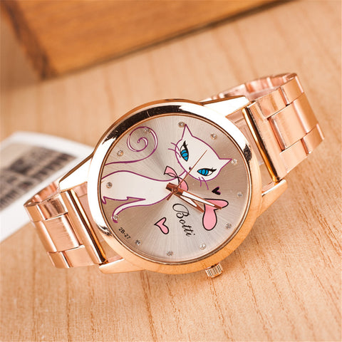 Luxury Persian Cat Stainless steel Rose Gold Watch for woman - VIP Top Cats