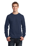 VA Port & Company® Long Sleeve Core Cotton Tee (EDUCATION)