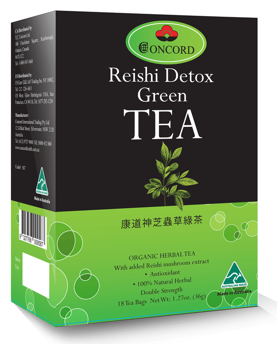 Concord Reishi Detox Green Tea - ORGANIC HERBAL TEA from Concord - Herbal Products Direct