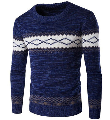 Men's Hand Knitted Patchwork Pullover - Loot & Ivory