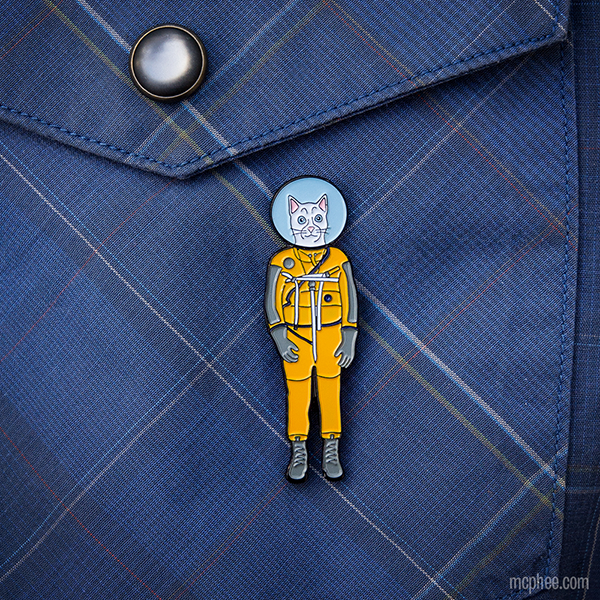 Cat Astronaut Strange Pin