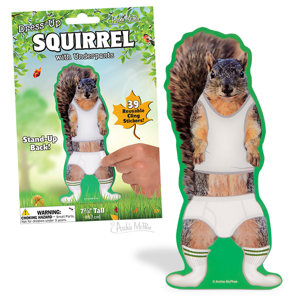 Dress-Up Squirrel with Underpants