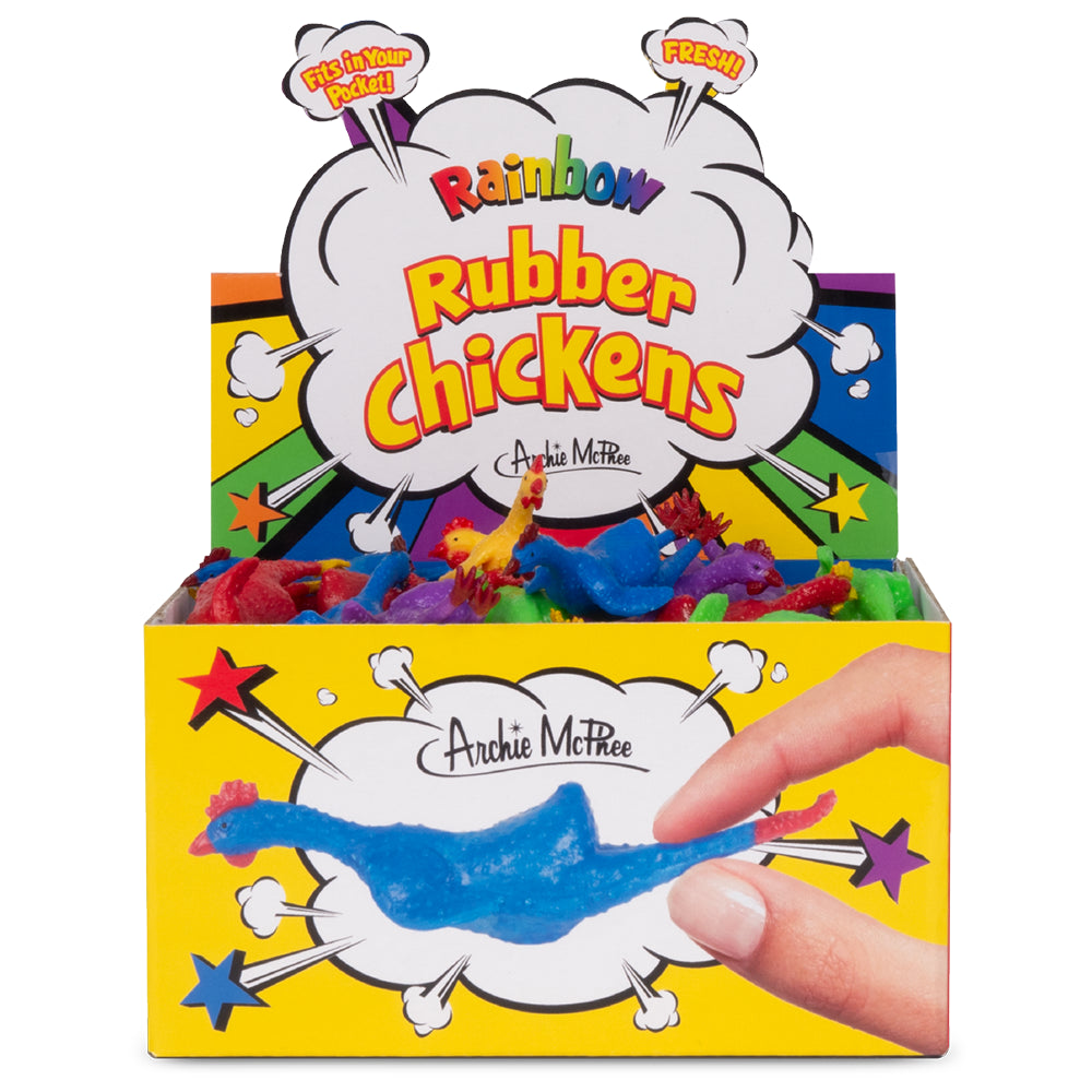 Rainbow Rubber Chickens