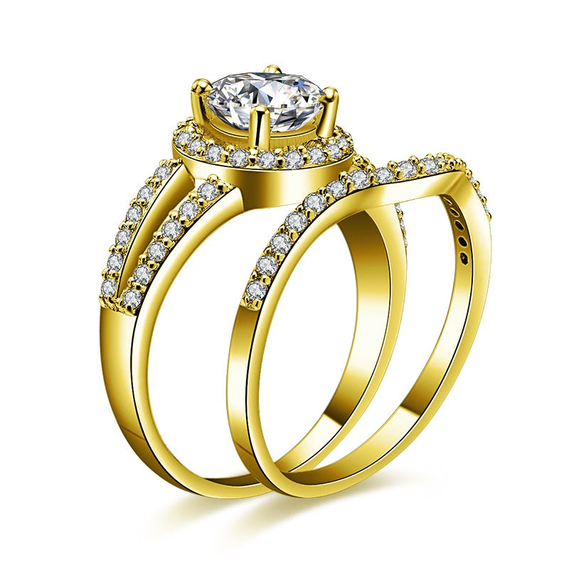 made gold left simulant one prong media rings ring engagement diamond solitaire white wedding anniversary ct man