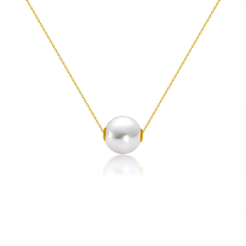 Pearl pendant necklace 18k solid yellow gold rubyshire mozeypictures Choice Image