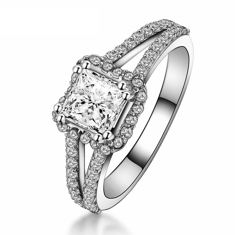 c engagement rings row multi square princess peoples cut diamond halo in frame wedding t v w ring jewellers