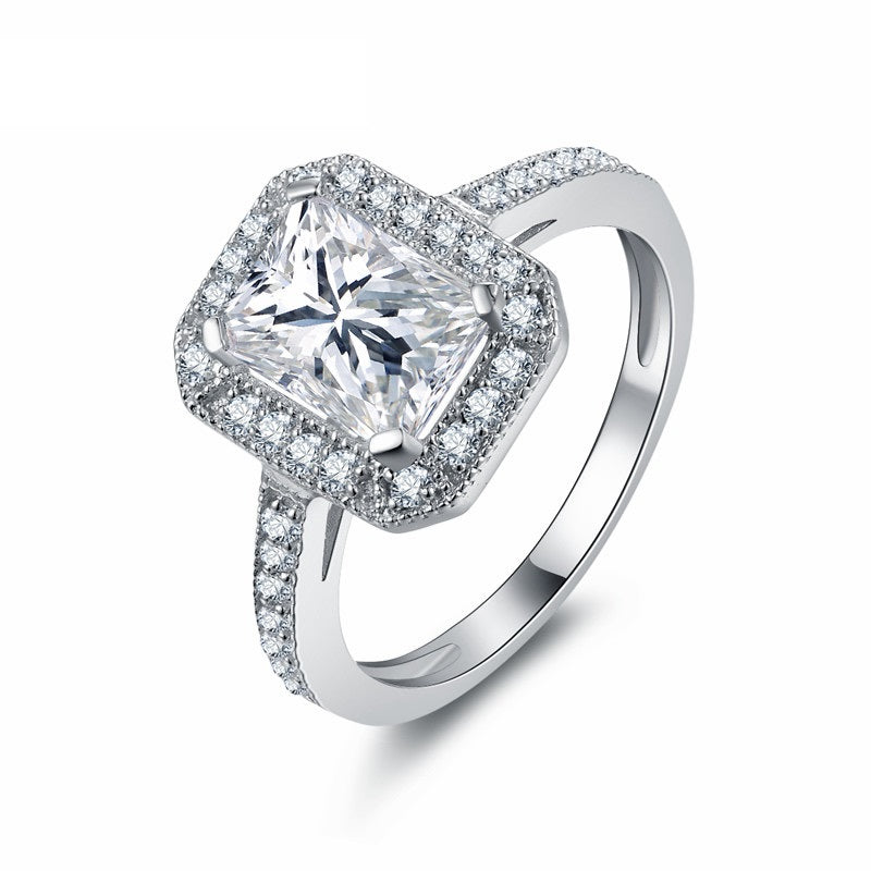 rings simple a with square engagement photos gallery ring cut diamond
