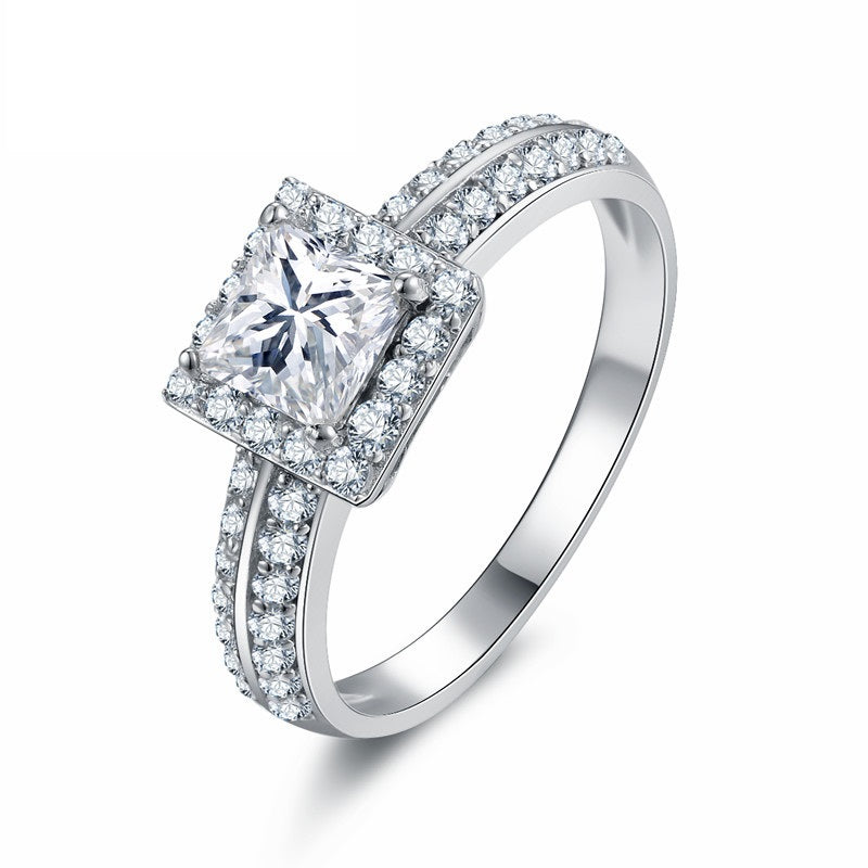 cut aurora diamond gia square ring rings princess centre engagement