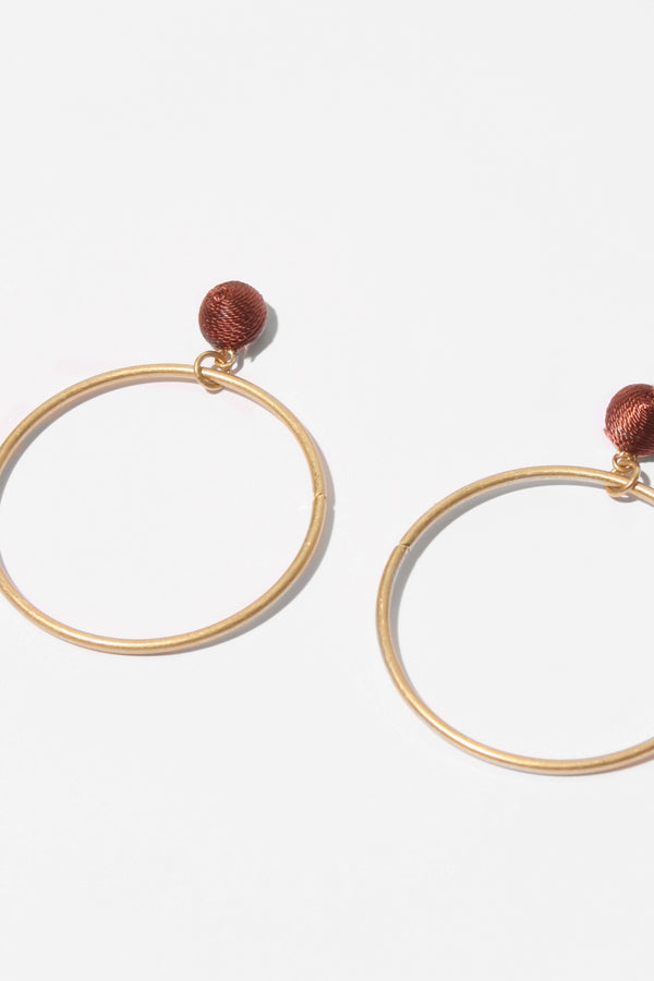 Plum Athens Earring