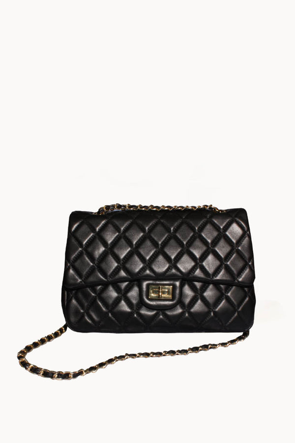 Leather Quilted Flap Bag