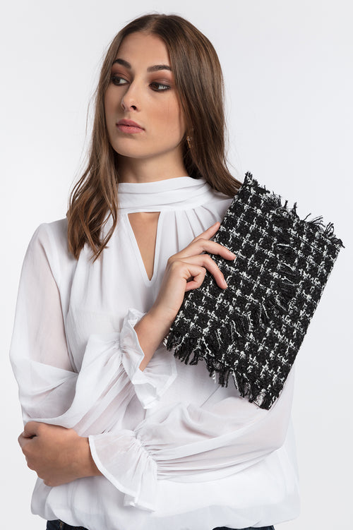 Boucle Fringe Clutch, Accessories - Repertoire NZ