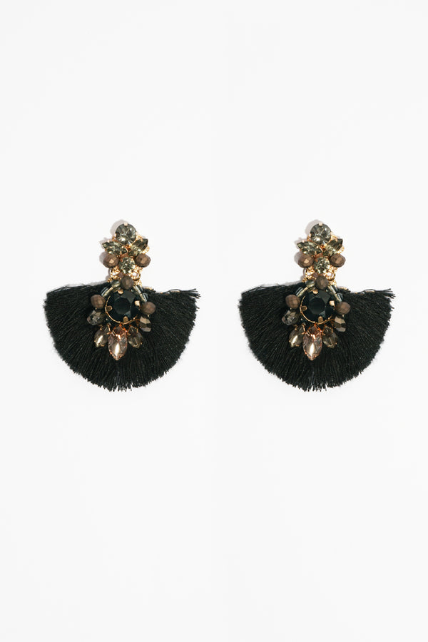Jewel Tassel Earring, Accessories - Repertoire NZ